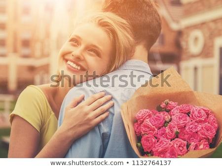 элегантный женщину любителей плечо пару Сток-фото © feedough