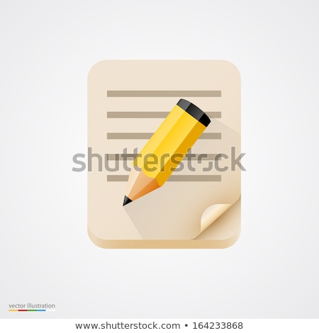 Stock photo: Homework text on notepad and pencil