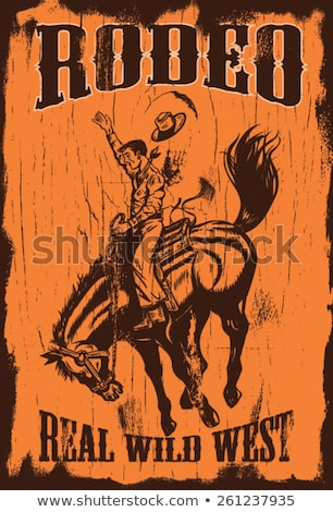 real cowboy with text stock photo © bluering
