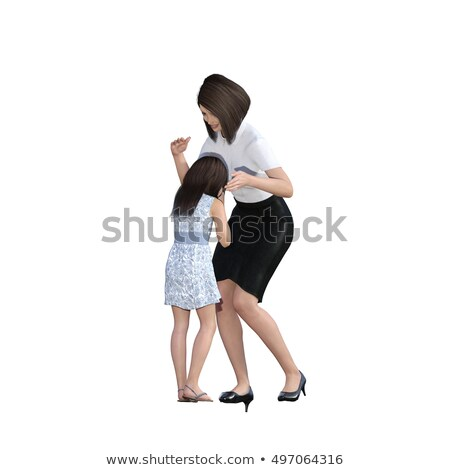 Mother Daughter Interaction of Mom Consoling Girl Stock photo © kentoh