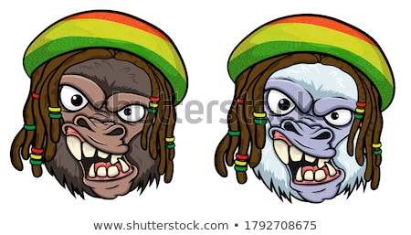 jamaican monkey cartoon isolated on white  background