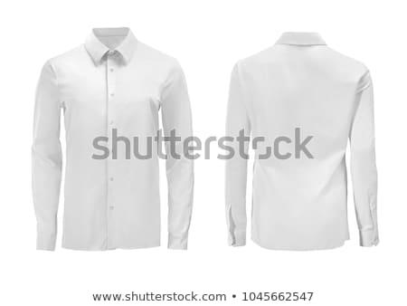 Biały shirt tabeli człowiek tle mężczyzn Zdjęcia stock © racoolstudio