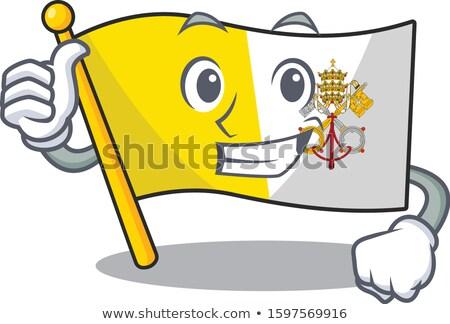 zászló · sziluett · pizza · utazás · csónak · sziluett - stock fotó © doomko