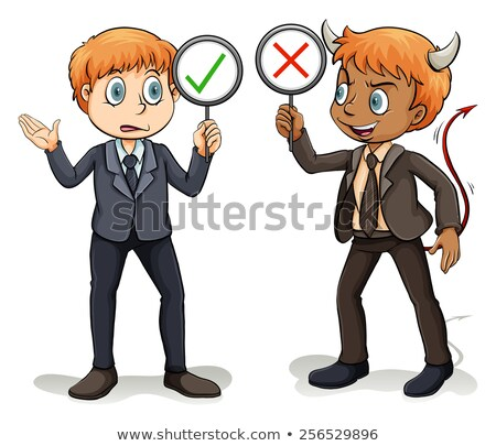 man with a devils advocate stock photo © bluering