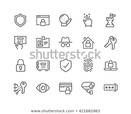 identificatie · lijn · icon · vector · geïsoleerd · witte - stockfoto © rastudio
