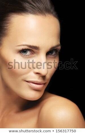 Kép nő bőrápolás néz kamera izolált Stock fotó © deandrobot