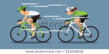 Seguir bicicleta acelerar esportes ilustração Foto stock © vectorworks51