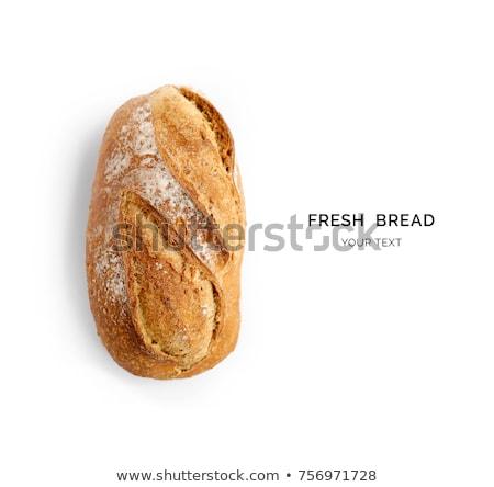 Izolált fehér kenyér szezám árnyék fehér vágási körvonal Stock fotó © 5xinc