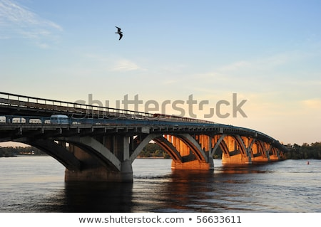metro bridge kiev ukraine stock photo © joyr