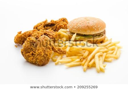 Grelhado delicioso carne comida bandeira Foto stock © robuart
