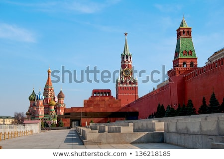 The Kremlin Borovitskaya tower on Red Square in Moscow Stock photo © simply