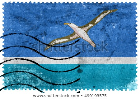 Midway Islands Flag Postage Stamp. Stock photo © tkacchuk