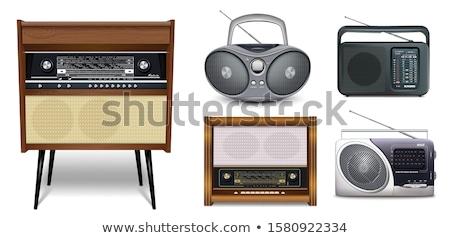 fekete · audio · hangfalak · fehér · buli · doboz - stock fotó © leonardi