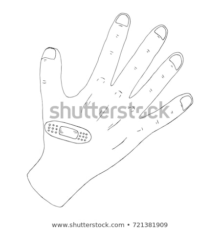 Wounded palm sketch icon. Stock photo © RAStudio