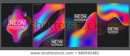 Stok fotoğraf: örnek · soyut · renkli · siyah · 3d · illustration