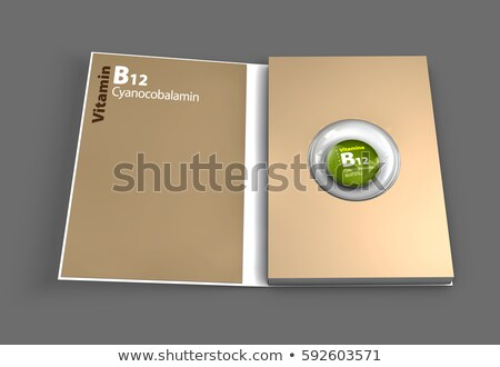 Mockup book of B12 vitamin. Illustration Stock photo © tussik