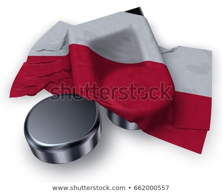 music note and polish flag - 3d rendering Stock photo © drizzd
