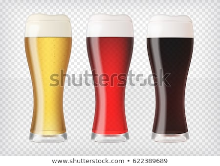 Realistisch bier bril donkere lege mok Stockfoto © pakete