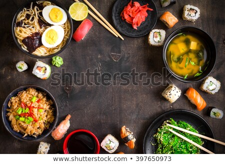 an overhead view of sushi at the table Stock photo © adrenalina