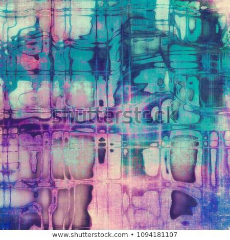 Dekoratif renk retro tarzı vektör toplama Stok fotoğraf © blue-pen