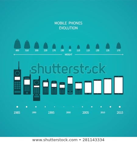 Сток-фото: эволюция · мобильного · телефона · смартфон · набор · электронных