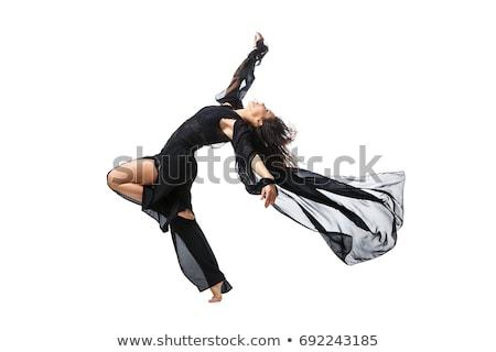красивой современных танцовщицы девушки черный Сток-фото © svetography