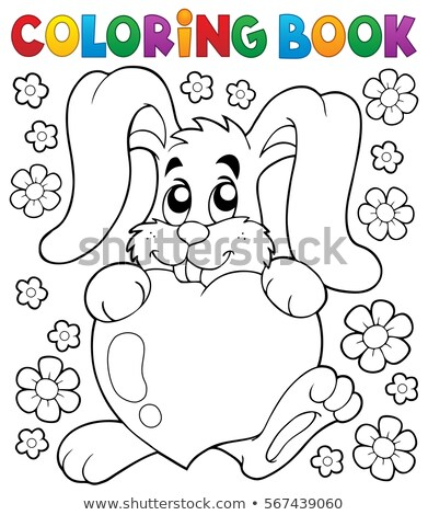 Coloring book flower topic 2 Stock photo © clairev