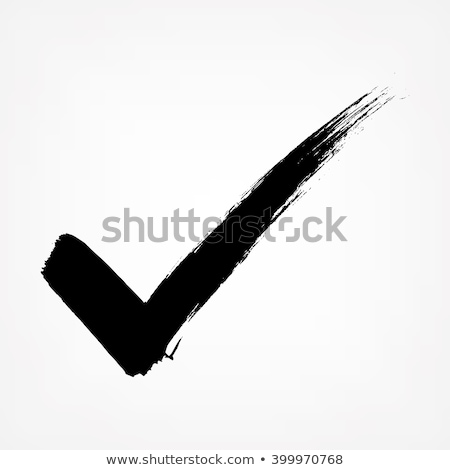 Vote or approved check mark hand drawn, vector.  Stock photo © pashabo