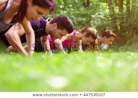Edző képzés lány csizma tábor napos idő Stock fotó © wavebreak_media