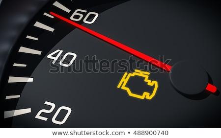 Сток-фото: двигатель · проверить · знак · икона · автомобилей · панель · управления