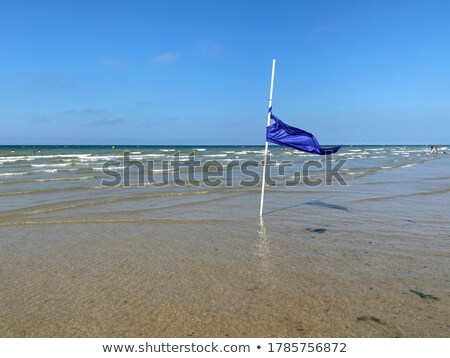 Veilig vlag Rood Geel blauwe hemel Stockfoto © Digifoodstock