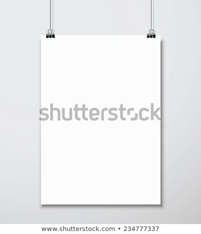 White Blank Paper Wall Poster Mock up Template Vector. Realistic Illustration. Template Frame Design Stock photo © pikepicture