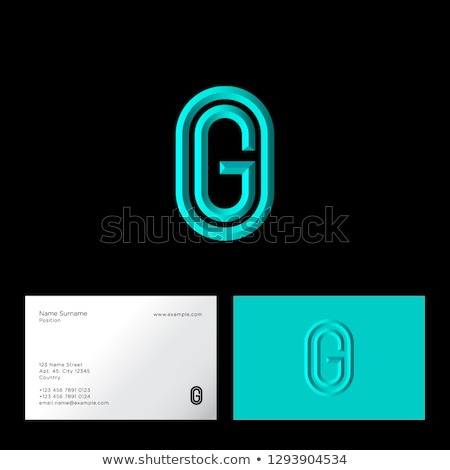 Stockfoto: Abstract Symbol Of Oval Letter G Icon