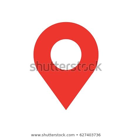 Térkép jelző ikon vektor piktogram színes Stock fotó © ahasoft