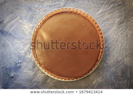 Csokoládé torta házi készítésű fehér étel reggeli Stock fotó © Digifoodstock