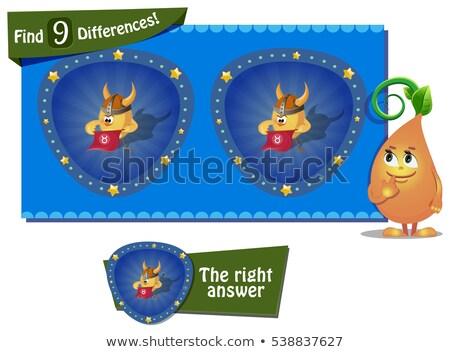 Verschillen kip helm spel kinderen taak Stockfoto © Olena