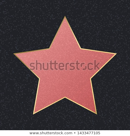Stock photo: Hollywood Walk Of Fame. Vector Star Illustration. Famous Sidewalk Boulevard.