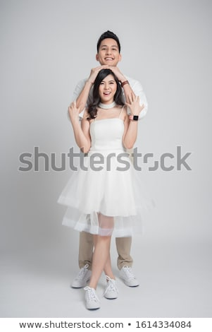 Young asian bridegroom laughing. Stock photo © RAStudio
