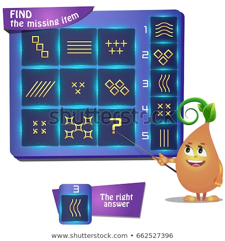 Find the missing item Stellar shape Stock photo © Olena