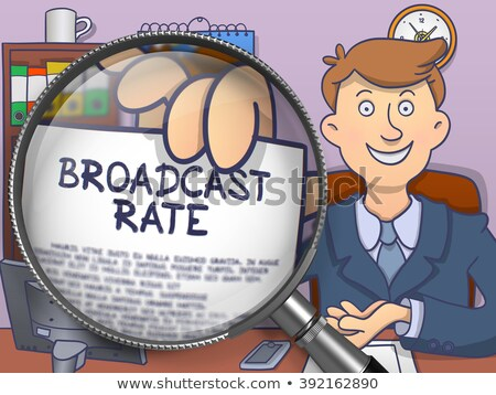 Broadcast Rate through Lens. Doodle Concept. Stock photo © tashatuvango
