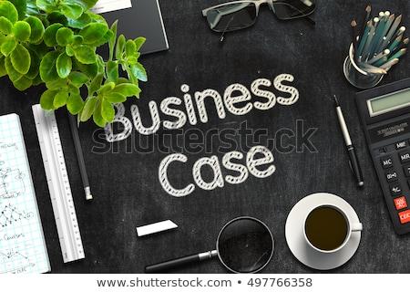 Affaires cas noir tableau 3D Photo stock © tashatuvango