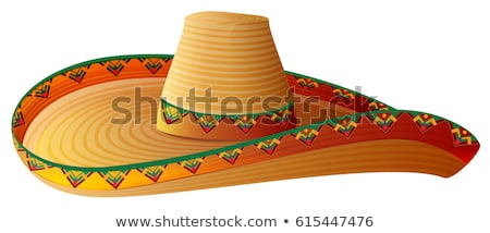 Sombrero Mexican Straw Hat with wide margins Stock photo © orensila