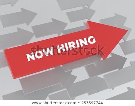 now hiring support manager 3d stock photo © tashatuvango