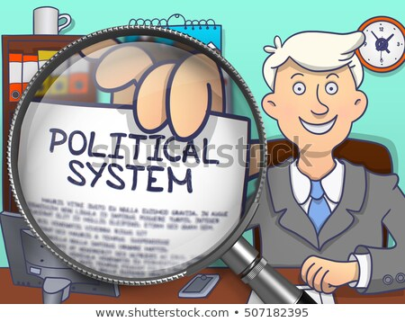 Political System through Lens. Doodle Concept. Stock photo © tashatuvango
