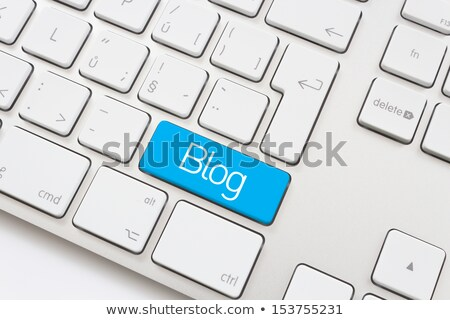 previsão · texto · azul · teclado · chave - foto stock © tashatuvango