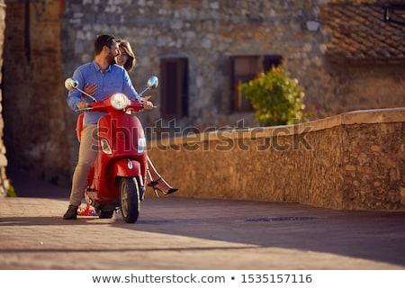mulher · motor · retrato · transporte · motorista - foto stock © IS2