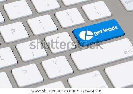 reclame · diensten · toetsenbord · knop · aluminium - stockfoto © tashatuvango