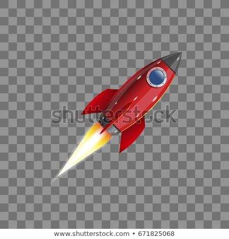 Stock fotó: űr · rakéta · retro · űrhajó · szett · ikonok