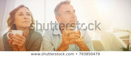 Casal pensando bochecha mulher amor homem Foto stock © IS2