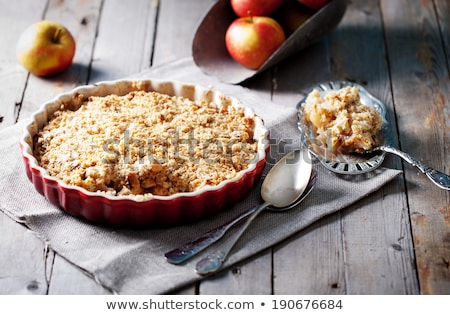 Homemade Sweet Apple Crumble Stock photo © mpessaris